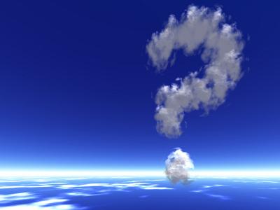 Question mark shaped cloud