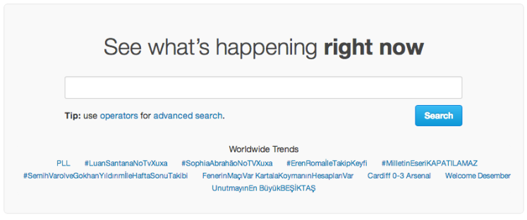 Twitter Search Panel