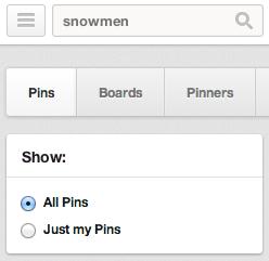 Pinterest Search Box
