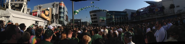 Panorama from the pep rally