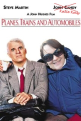 Cover of Planes, Trains and Automobiles, with the face of John Candy replaced by the face of Katie Kelly